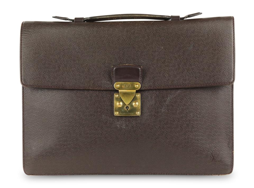 58b0331dd606 Louis Vuitton Briefcase Attache Taiga Leather Carry On Business Laptop Bag  Image 0 ...