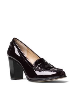 Michael Kors Penny Loafers Patent Leather Plum Pumps
