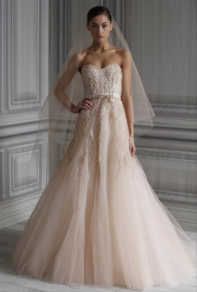 Monique lhuillier blush tulle candy traditional wedding dress size 0 monique lhuillier blush tulle candy traditional wedding dress size 0 xs junglespirit Choice Image