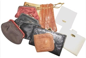Other Set of 9 vintage and antique wallets coin purses and a leather drawstring pouch