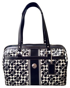 Coach Satchel in Black and white
