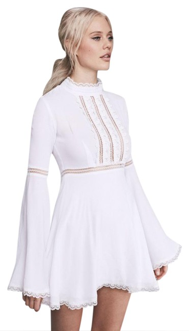 Item - White Willow Bell Sleeve Short Cocktail Dress Size 4 (S)