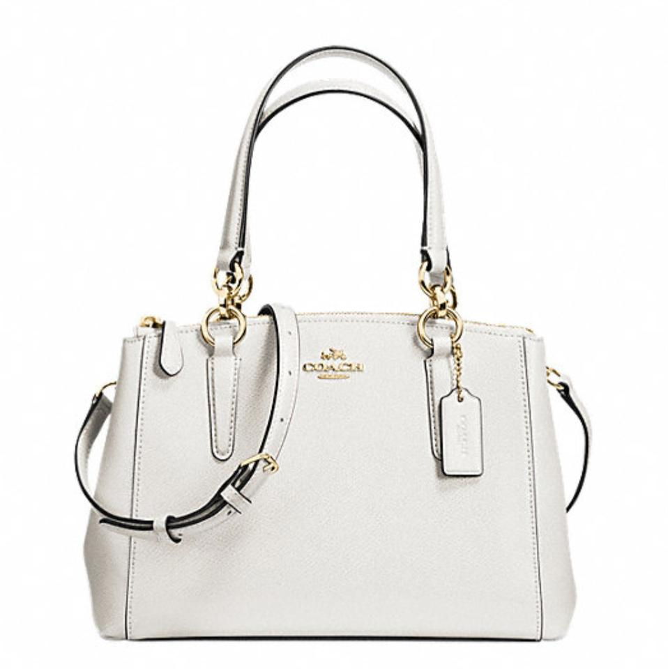 635420c1745c Coach Christie Mini Carryall Crossgrain F57523 White Leather Shoulder Bag
