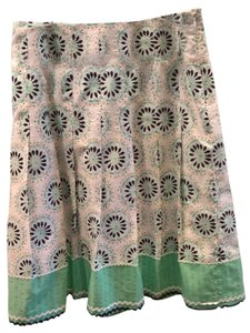 Ann Taylor LOFT Skirt Blue green white