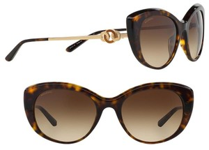 BVLGARI Bvlgari Sunglasses Limited Edition Gold Cat Eye 18k Circle Le Gemme