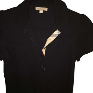 Burberry Brit Button Down Shirt black with Burberry colors