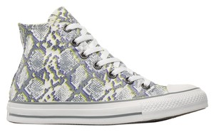 Converse Snake Skin All Star Chucks Hi Tops grey/white Athletic