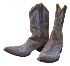 Old Gringo Pointy All Leather 8.5b Caramel nubuc distressed Boots