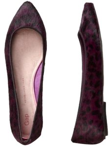 Gap Calf Hair Leopard Plum Leopard Plum PURPLE Flats