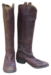 Frye Southern Style Everyday Riding Brown distressed leather Boots