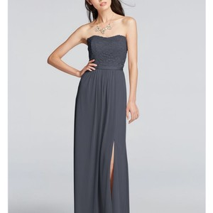 David's Bridal Pewter Pewter Bridesmaid Dress Dress