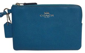 Coach Leather Wristlet in Blue