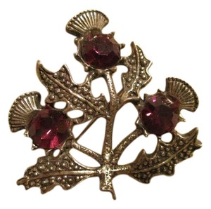 Other Miracle Celtic thistle purple rhinestone pin