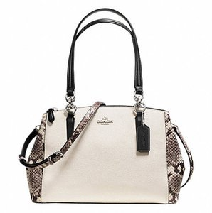 Coach Carryall Christie Tote 36637 Satchel in antique nickle white