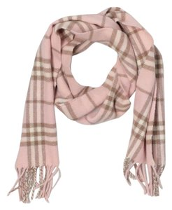 Burberry BURBERRY PINK 100% LAMBSWOOL SCARF