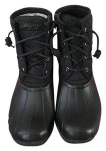 Sperry Duck Winter Snow Black Boots