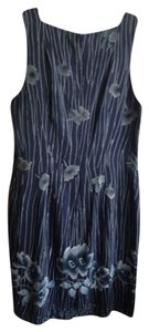 Casual Corner short dress Blue Print on Tradesy