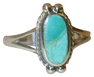 J Brand 925 Sterling Silver Oval Cut NATURAL TURQUOISE CELTIC Ring Size 6