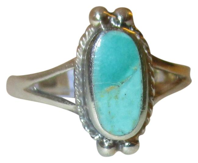 Item - Turquoise 925 Sterling Silver Oval Cut Natural Celtic Size 6 Ring