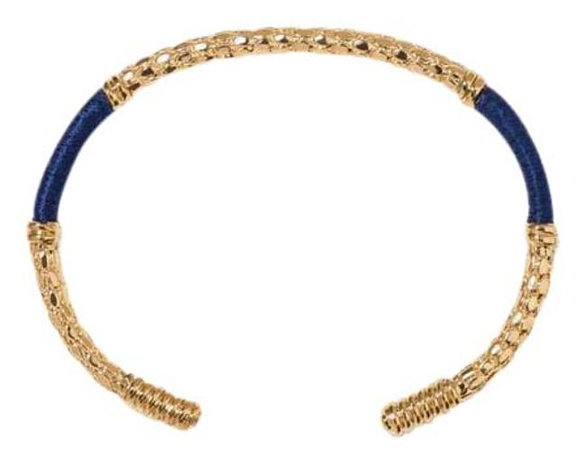 Item - Gold & Navy Soho Bracelet