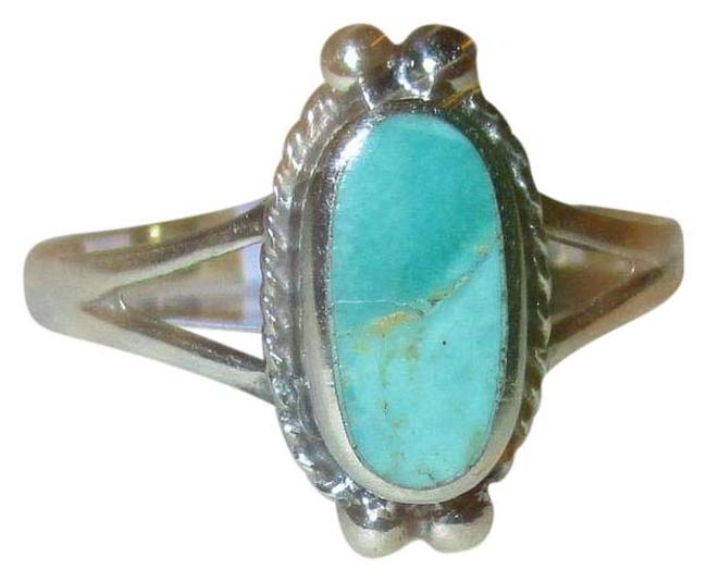 Item - Turquoise 925 Sterling Silver Oval Cut Natural Celtic Size 7 Ring