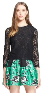 Diane von Furstenberg Top Black lace