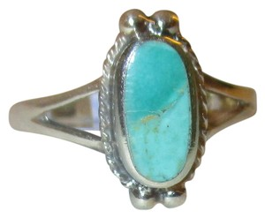 J Brand 925 Sterling Silver Oval Cut NATURAL TURQUOISE CELTIC Ring Size 9