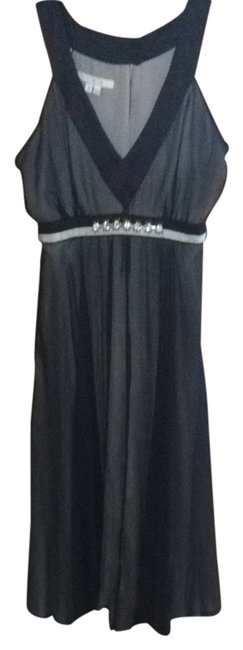 Preload https://item4.tradesy.com/images/ice-grey-and-black-a-line-cocktail-dress-size-8-m-2078073-0-0.jpg?width=400&height=650