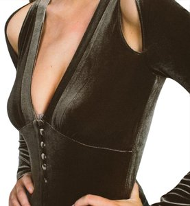 Makers of Dreams Bodysuits Velvet Velour Shopakira New With Tags Top Olive