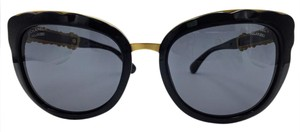 Chanel Chanel Black on Gold Blooming Bijou Sunglasses 5356 c.501/T8 56