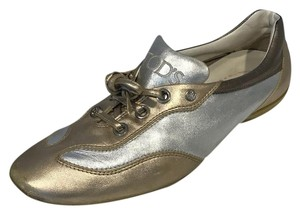 Tod's gold silver Flats