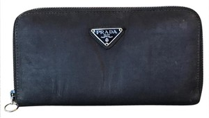 Prada Black Nylon Zippy Long Wallet