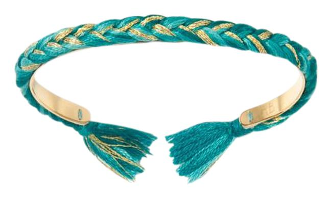 Item - Gold & Turquoise Copacabana Thin Bangle Bracelet