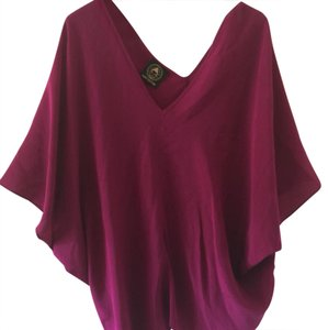 aum couture Top burgundy