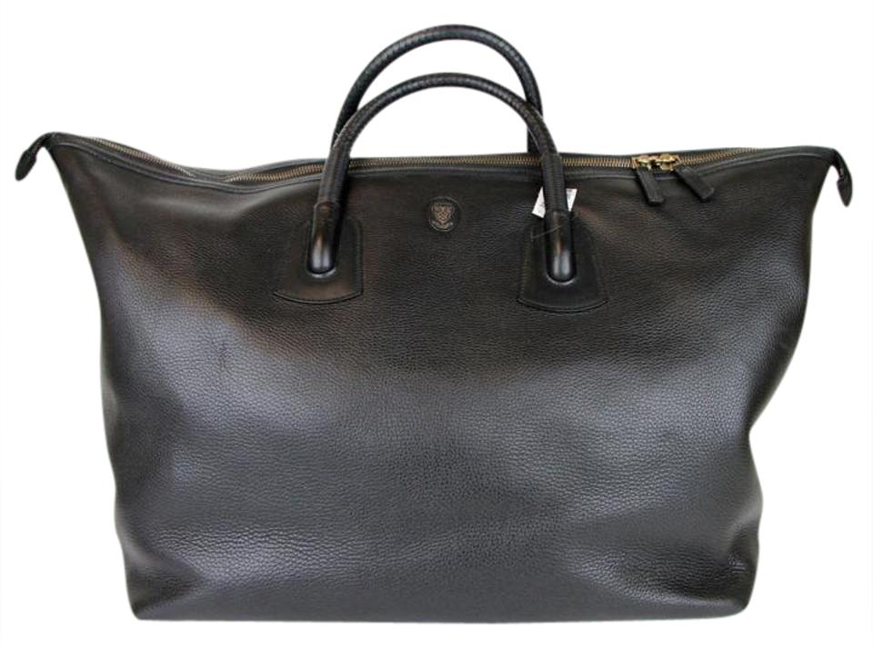 69f9338a2ed2 Gucci Duffle Unisex Large Carry-on 325791 Black Leather Weekend/Travel Bag