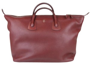 Gucci Unisex Large Leather Carry-on Burgundy Travel Bag