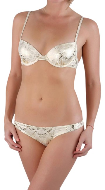 Item - Gold XL Paris Women Snake Printed Push-up Pcs Us / Eu 48 Bikini Set Size 12 (L)