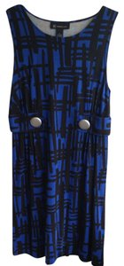 INC International Concepts short dress Blue and Black Print on Tradesy