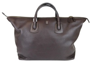 Gucci Unisex Large Leather Carry-on Dark Brown Travel Bag