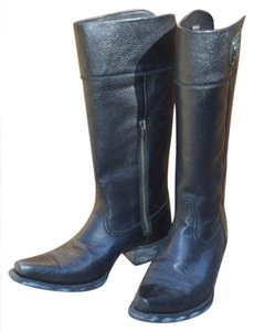 Ariat Cowboy Snip-toe Classic black pebbled leather Boots