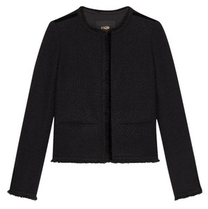 Maje Black Tweed Blazer