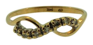 Other Vintage Diamond Bow Ring- 14k Yellow Gold