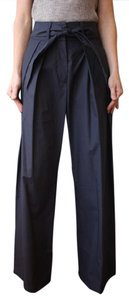 Sea New York Tie Waist High Waist Trouser Wide Leg Pants Blue