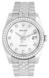 Rolex Rolex DateJust Stainless Steel Custom Diamond Men's Watch