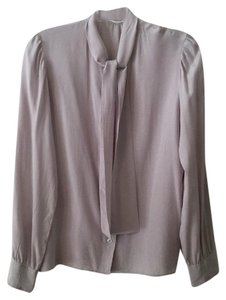 Saint Laurent Rive Gauche Made In France Vintage Top Gray