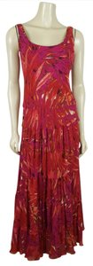 multi-colored - red, pink, orange and brown Maxi Dress by Jones New York Maxi Sz6 Maxi Sz 6