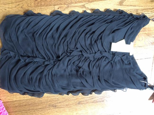 Valentino Made In Italy Silk Size 6 Made In Italy Silk Skirt Black