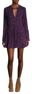 Free People short dress Purple Mini Cut-out Floral on Tradesy