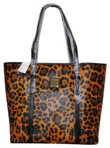 Dooney & Bourke Leopard Lp951bl Lined Tote in Black