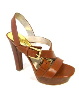 Michael Kors Strappy Sexy Heels Summer Spring Luggage Sandals
